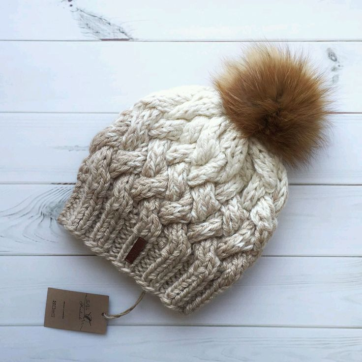 вязаные шапки с переходом цвета градиентное вязание